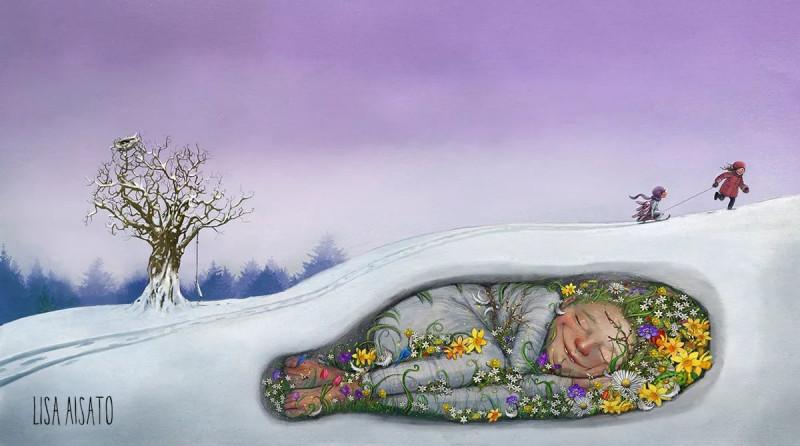 """художник — Лиза Айсато.  Из серии """"Времена года"""","""