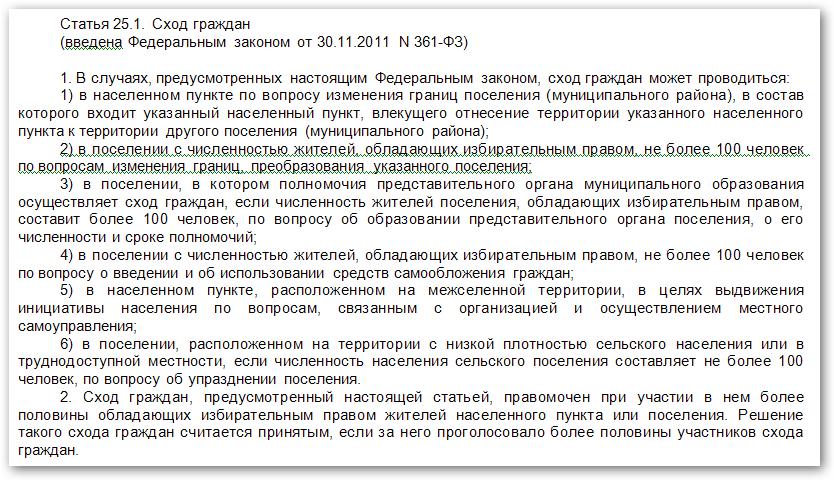 Статья 25.1 131-ФЗ