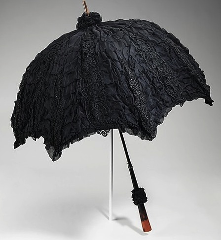 1895-1900  Mourning Parasol  The Metropolitan Museum of Art