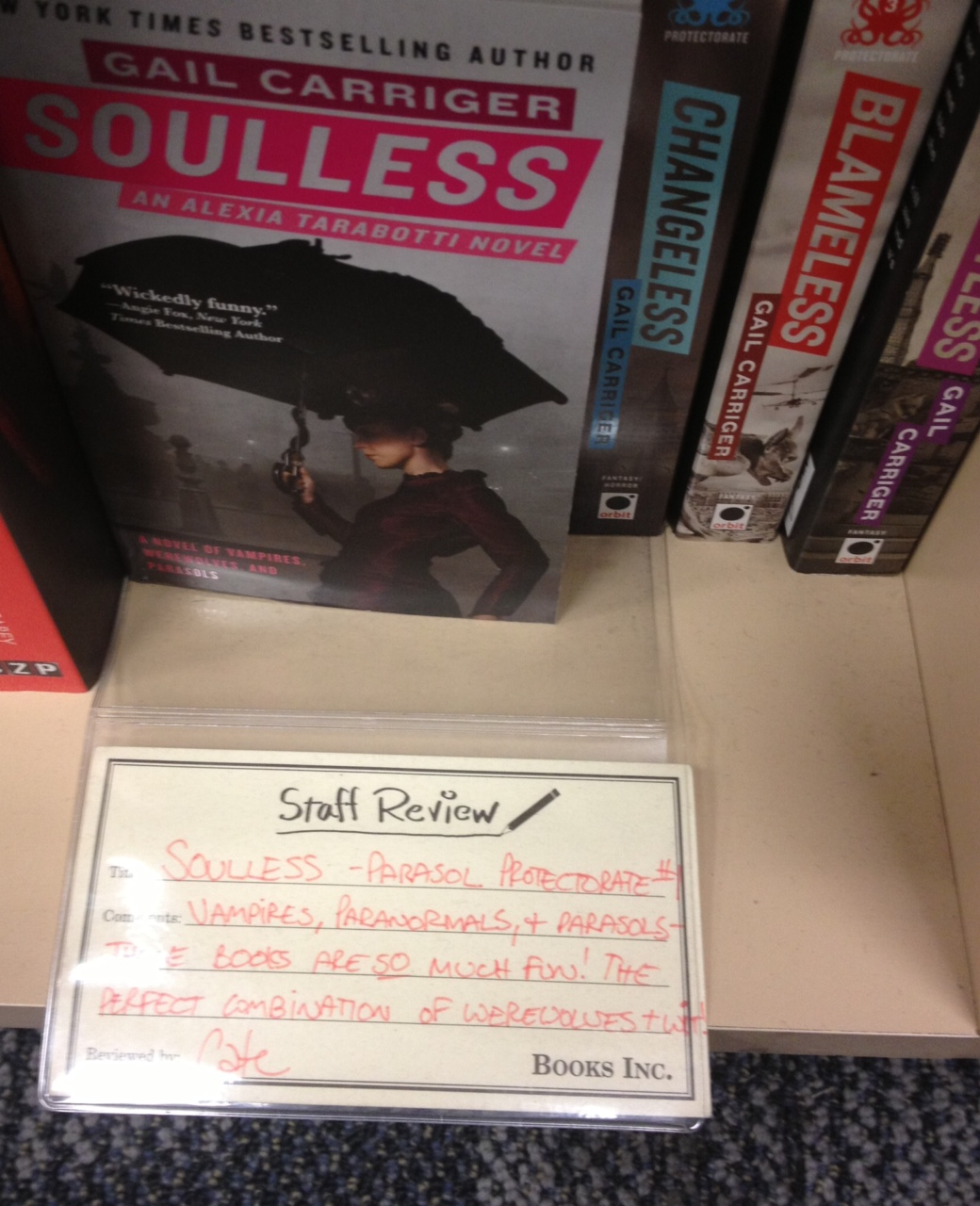 Soulless Review Books Inc