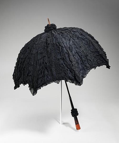 1895-1900 Mourning Parasol The Metropolitan Museum of Art