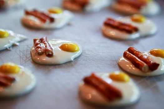 bacon egg candy