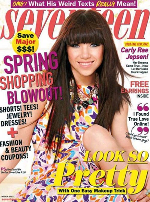Seventeen March 2013 hits newsstands on February 5th