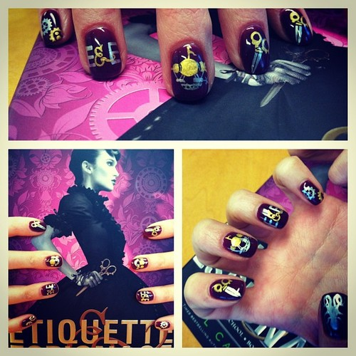 Now THOSE are the nails of a lady of quality. (#nailart inspo- @gailcarriger's Etiquette & Espionage.) (at Mademoiselle Geraldine's)
