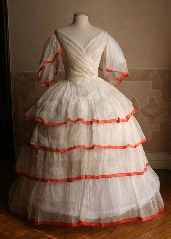 1850-е, бальное платье (частная коллекция, Италия)