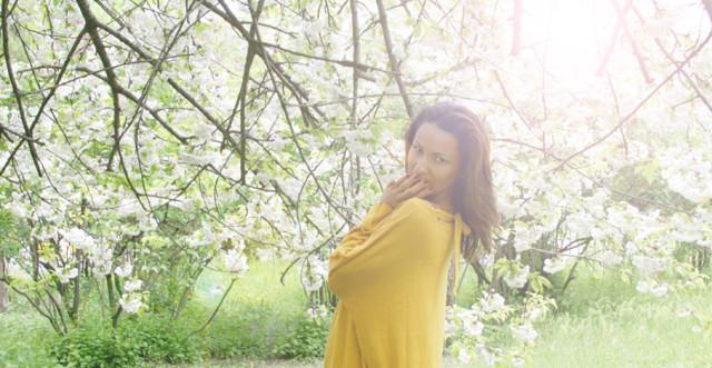 желтая кофта Манго, волшебное дерево
