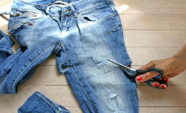из джинсов в шорты