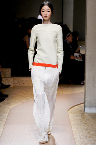 celine ss 2011, total white look