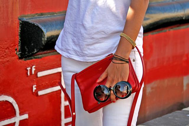 red celine bag