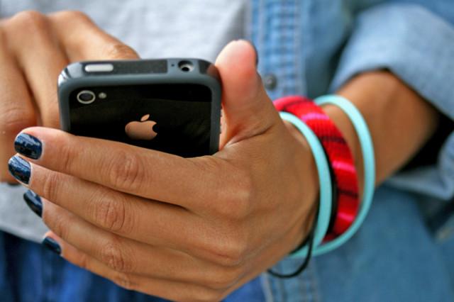 iphone, denim, bracelets