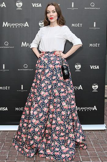 юбка в цветах