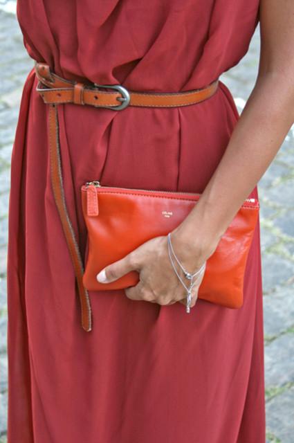 кирпичное платье, сумка селин