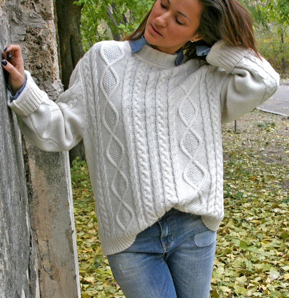 cosy cable knit sweater