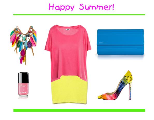 polyvor set, neon look for summer 2012