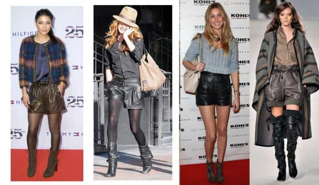 как носить кожанные шорты зимой. Leather Shorts