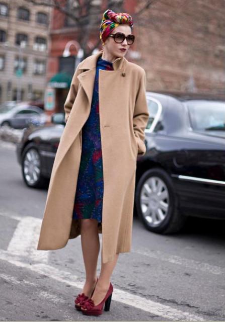 Гузинская в пальто