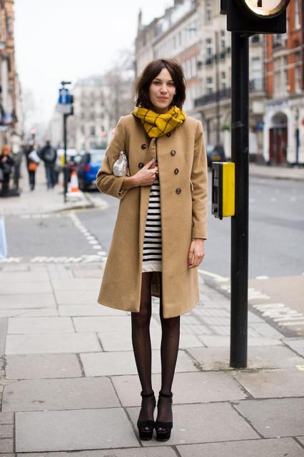 alexa chung in coat