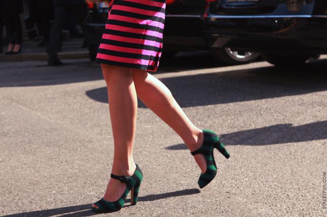 striped skirt prada