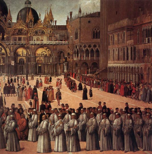 Процессия на площади св. Марка в Венеции (1494, фрагмент)