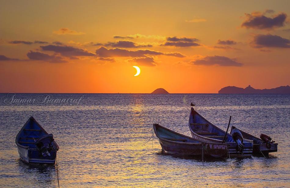 Солнечное  затмение  в  Йемене