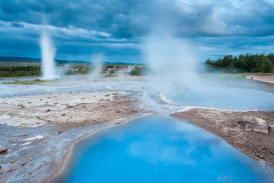 3 Strokkur Geyser and Blesi pool, Iceland