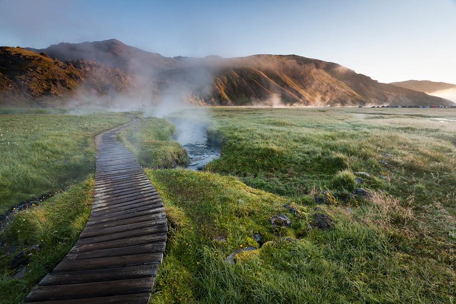 7 Дорожка  в геотермальный  парк