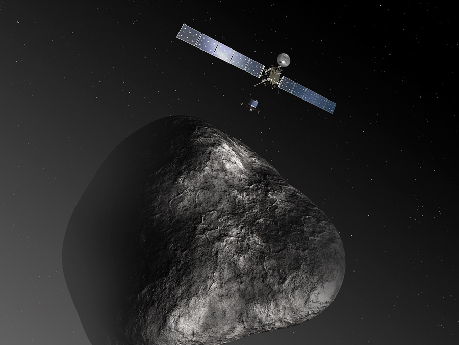 Rosetta_and_Philae_at_comet -
