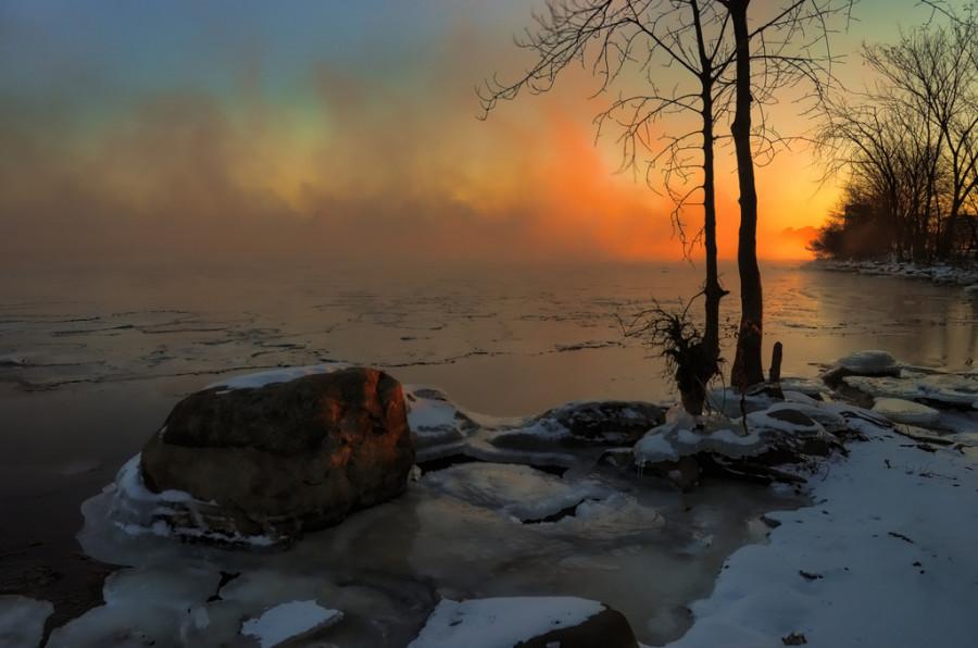 Рассвет  и  лед