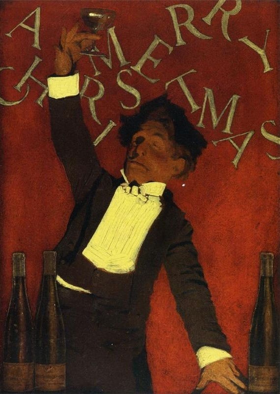 Maxfield Parrish A Christmas Toast. 1910 г.