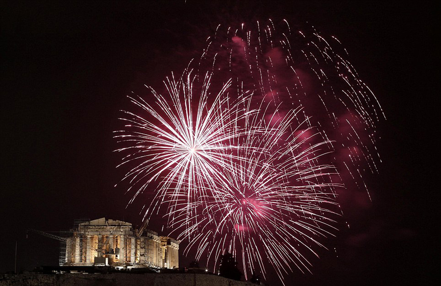 Parthenon during New Year