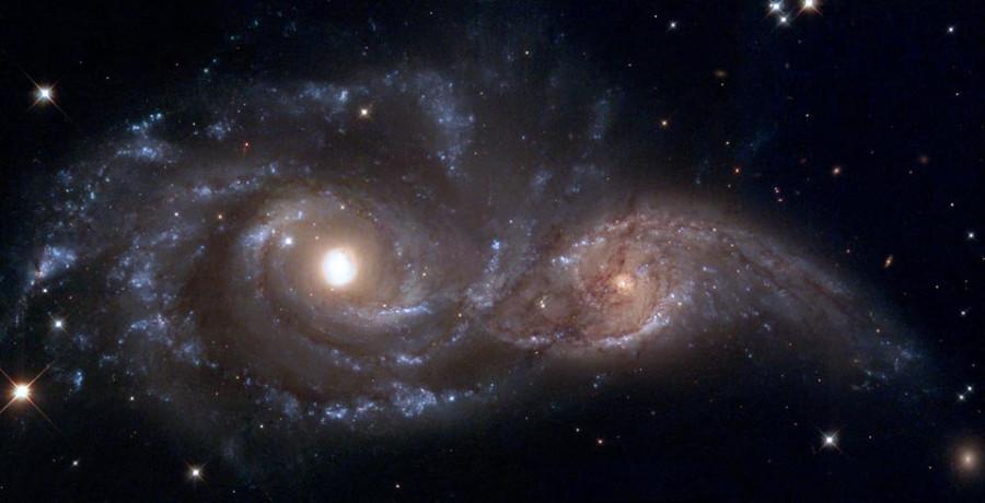2 галактики столкновение