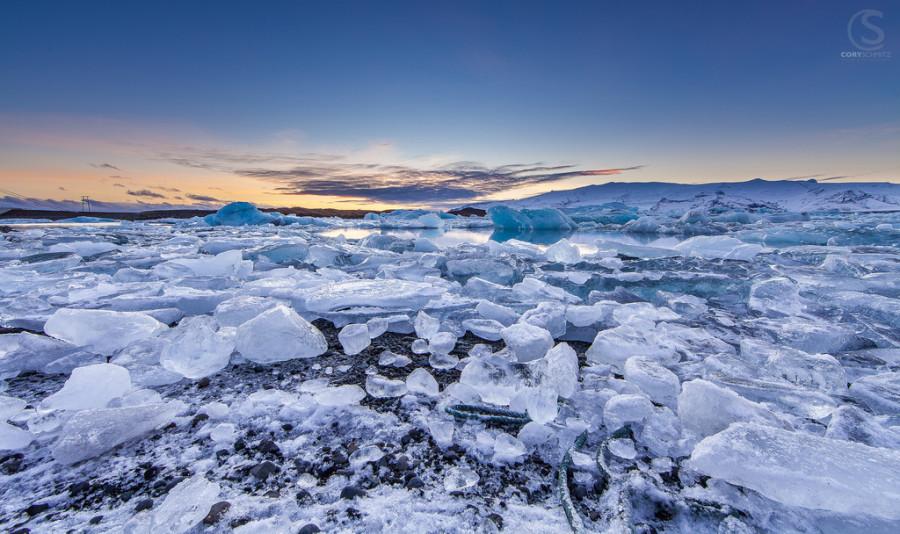 Рассвет  в  Исландии