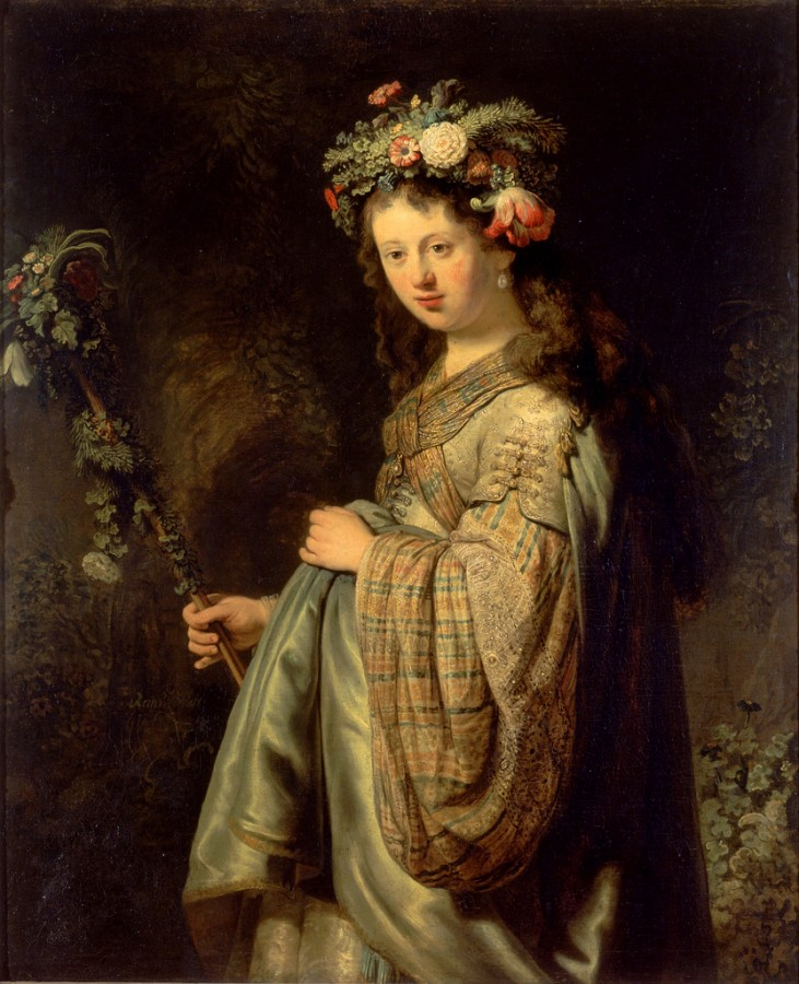 6 Saskia-as-Flora-1634-by-Rembrandt