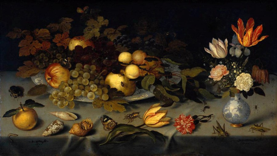 1 Ballthasar_van_der_Ast_-_Flowers_and_Frut, 1620-1621