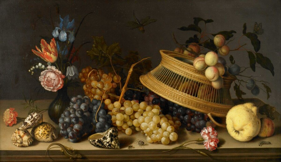 2 Still_Life_of_Flowers,_Fruit,__by_Balthasar_van_der_Ast-BMA