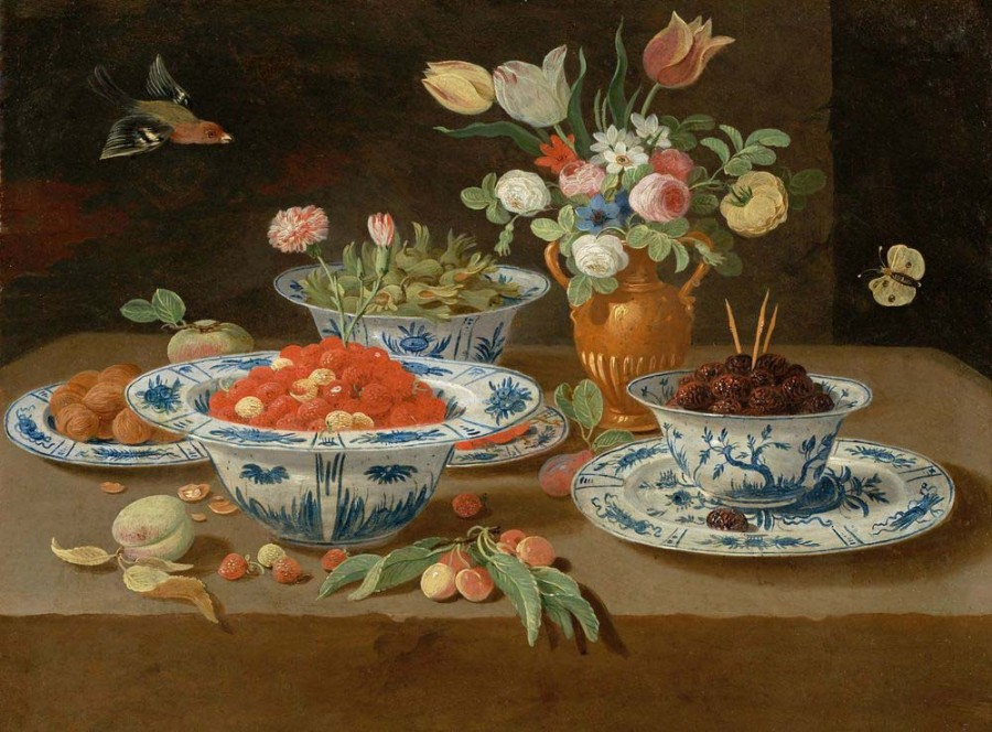 2 Jan van Kessel the Elder_banketje_avec_coupes_de_porcelaine_kraak_de_chine_