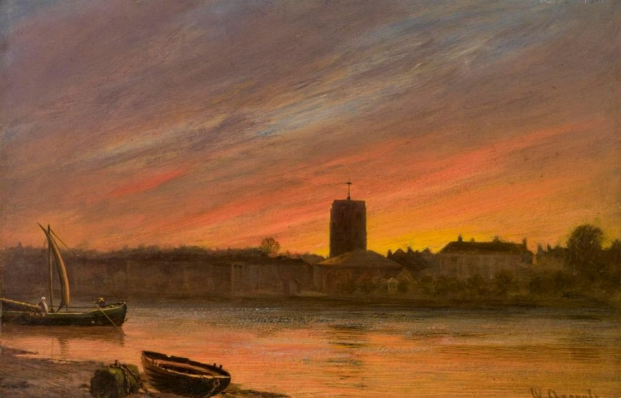 2 William Ascroft, Небо  Лондона, 1885