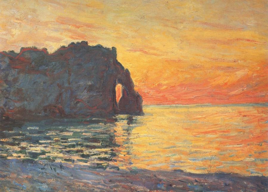 4 Клод Моне. Этрета, скала д'Аваль. Закат 1885 г.