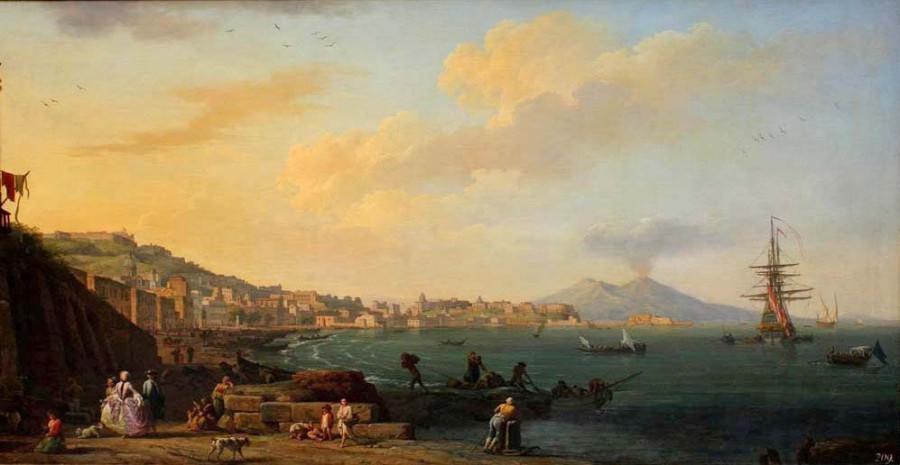 10 Claude Joseph Vernet Vue de Naples avec le Vеsuve. 1748