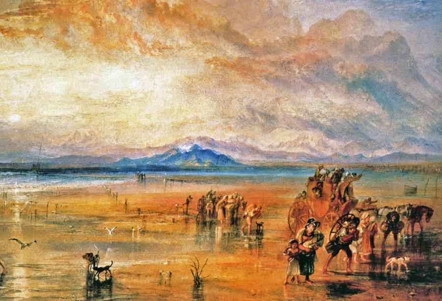13 Joseph Mallord William Turner - Lancaster Sands 1826