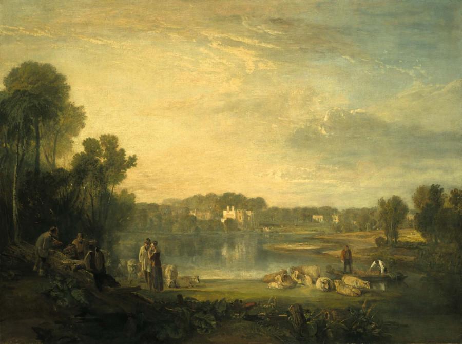 ДЖОЗЕФ МЭЛЛОРД УИЛЬЯМ ТЕРНЕР Вилла Александра Поупа в Туикенхэме.1822г