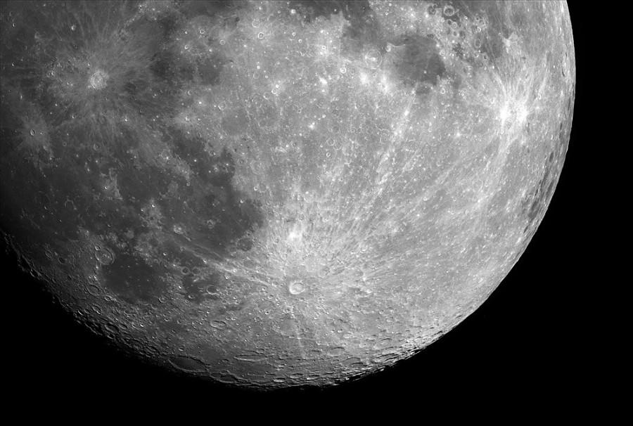 1 Тихо и Коперник лунные кратеры с лучами