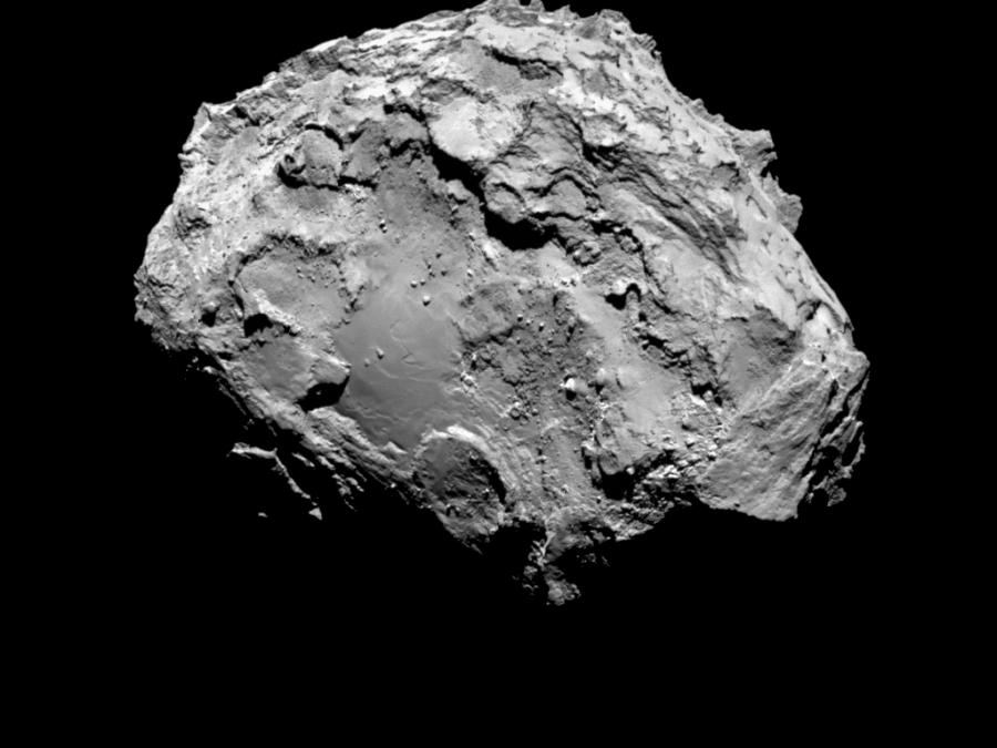 3 Обратная  сторона  кометы с расстояния 285 км от ее поверхности.