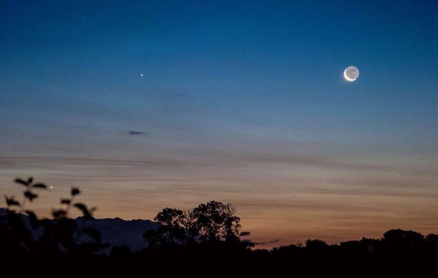 Юпитер и Луна