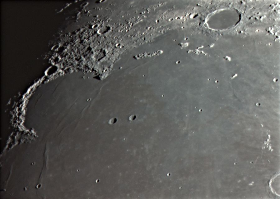 5 Залив Радуги и кратер Платон