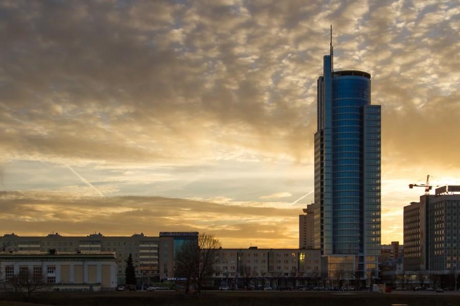 Закат  в Минске
