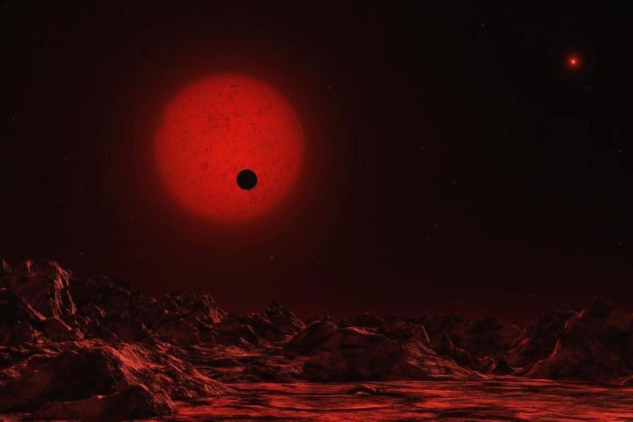 4 Зкзопланета  и  красный  карлик