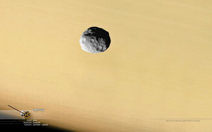 спутник  Сатурна  Янус