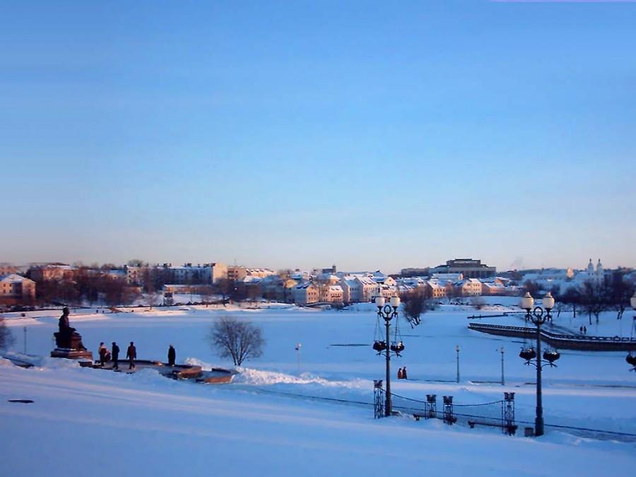 Зимний морозный вечер