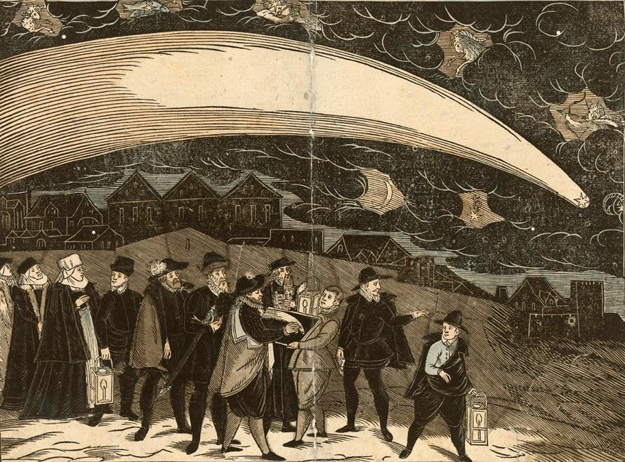 15 Большая комета 1577 над Прагой 12 ноября